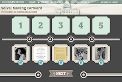 Image of solving the Time After Time Moving Forward challenge on women's suffrage