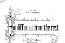 Cover page for sheet music I'm Different From the Rest